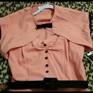 Stop staring coral dress with bolero